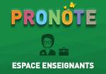 Pronote espace enseignants